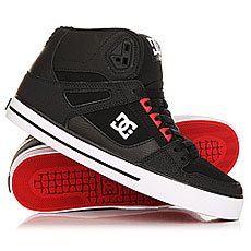 Кеды высокие DC Spartan High Wc Black/Red/Black