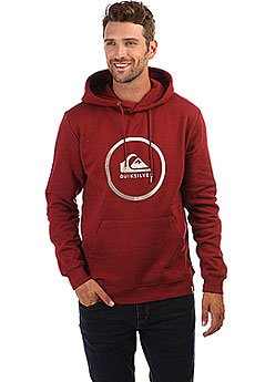 Толстовка кенгуру Quiksilver Big Logo Hood Pomegranate