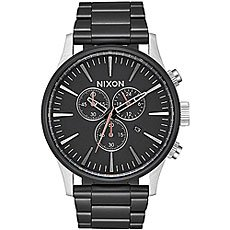 Кварцевые часы Nixon Sentry Chrono Black/Steel