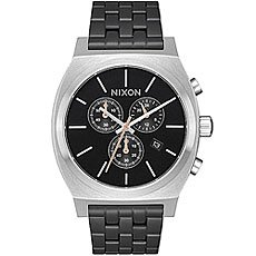 Кварцевые часы Nixon Time Teller Chrono Black/Steel
