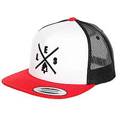 Бейсболка с сеткой Les Trucker Red/White/Black