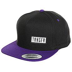 Бейсболка с прямым козырьком Transfer Classic Snapback 5 Panel Black/Purple