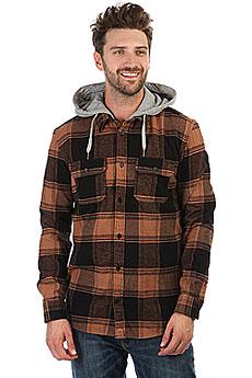 Рубашка в клетку DC Runnel Ls Raw Umber