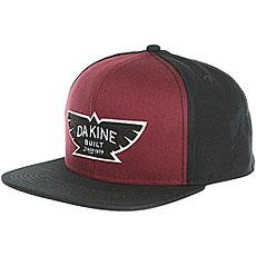 Бейсболка с прямым козырьком Dakine Built Garnet/Black
