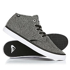 Кеды высокие Quiksilver Shorebreak Mid Grey/Black/White