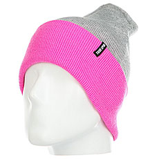 Шапка женская TrueSpin Neon Tone Roll Up Heather-grey-neon-pink