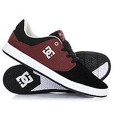 Кеды низкие DC Plaza Black/Oxblood