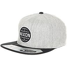 Бейсболка с прямым козырьком Nixon Lazaro Snapback Hat Black