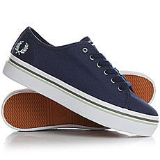 Кеды низкие женские Fred Perry Phoenix Flatform Canvas Navy