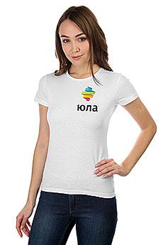 Футболка женская Классическая Юла Logo Белая