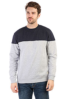 Толстовка свитшот DC Rebel Block Grey Heather