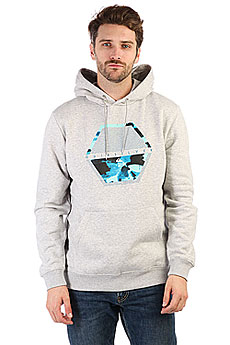 Толстовка кенгуру Quiksilver Comfortplacehoo Light Grey Heather