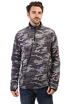 Толстовка сноубордическая Quiksilver Aker Hz Fleece Black Grey Camokazi