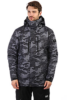 Куртка утепленная Quiksilver Mission Pr Black Grey Camokazi