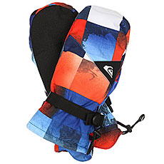 Варежки Quiksilver Mission Mitt Blue Red Icey Check