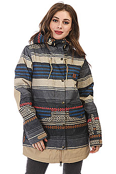 Куртка утепленная женская DC Riji Poncho Stripe