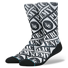 Носки высокие Stance Anthem Public Enemy Black