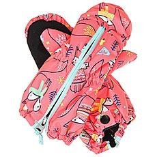 Варежки сноубордические детские Roxy Snows Up Mitt Neon Grapefruit foxe