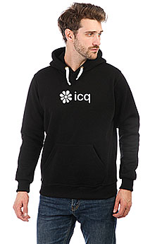 Толстовка Wearcraft Premium Icq Logowhite Черная