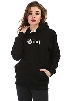 Толстовка Wearcraft Premium Женская Icq Logowhite Черная