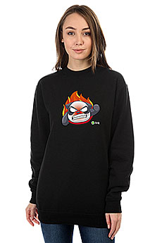 Свитшот женский ICQ Angrypanda Черный