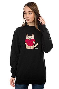 Свитшот женский ICQ Lovecat Черный
