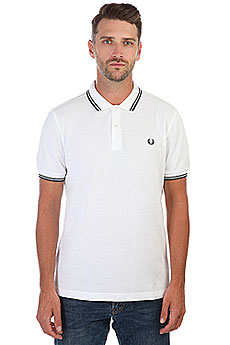 Поло Fred Perry Twin Tipped White