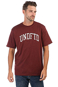 Футболка Undefeated Undefeated Reversible Crew Burgundy