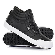 Кеды зимние женские DC Shoes Evan Hi Wnt Black/White/Black