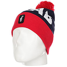 Шапка Crabgrab Pom Beanie Red & Navy