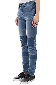 Джинсы прямые женские Rip Curl Pins High-patched Indigo Mid Blue