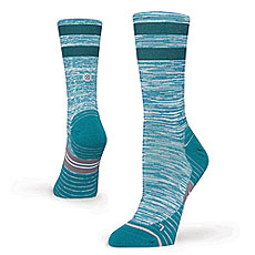 Носки высокие женские Stance Run Womens Uncommon Solid Run Crew Teal