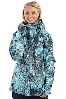 Куртка утепленная женская Roxy Wilder Print Aruba Blue Freezefog
