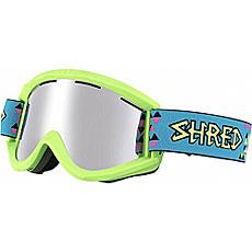 Маска для сноуборда Shred Soaza Tritris Platinum Neon Green