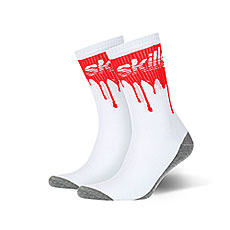 Носки средние Skills Кровь Белые
