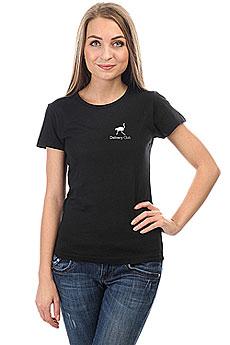 Футболка Женская Классическая Deliveryclub Logo Черная S