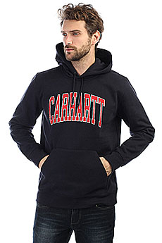 Толстовка кенгуру Carhartt WIP Hooded Division Sweatshirt Dark Navy