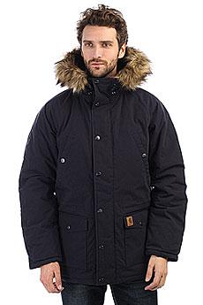 Куртка зимняя Carhartt WIP Trapper Parka Dark Navy/Black