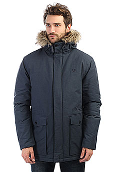 Куртка зимняя Fred Perry Quilted Fur Trim Parka Navy