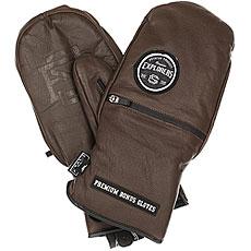 Варежки сноубордические Bonus Gloves Leather Brown