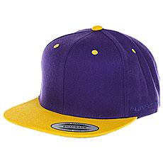 Бейсболка классическая Flexfit/Yupoong Purple/Gold