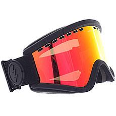 Маска для сноуборда Electric Egv Matte Black+bl/Brose/Red Chrome