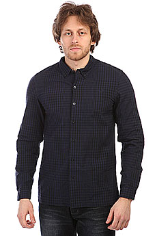 Рубашка Fred Perry Distorted Gingham Shirt Dark Navy