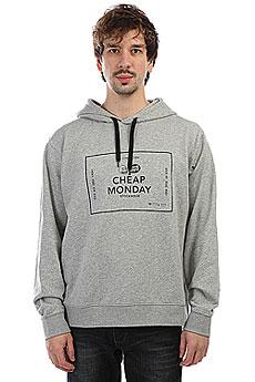 Толстовка классическая Cheap Monday Pullover Hood Box Logo Grey Melange