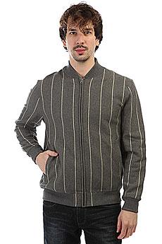 Толстовка классическая Undefeated Pinstripe Fleece Varsity Jacket Grey Heather