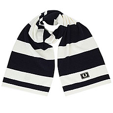 Шарф Fred Perry Striped Merino Scarf Navy/White