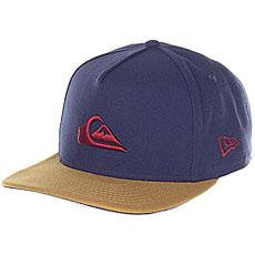 Бейсболка с прямым козырьком Quiksilver Stuckles Snap Navy Blazer