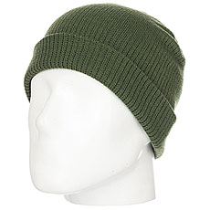Шапка носок WearColour Rib Beanie Olive Green