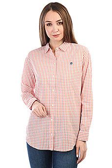 Рубашка в клетку женская Obey 89 Check Button-down Rose Multi