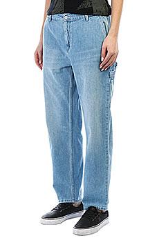Джинсы прямые женские Carhartt WIP Pierce Pant Blue (prime Bleached)